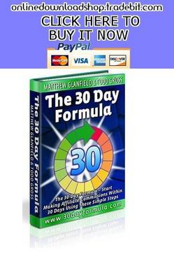Product picture The 30 Day Formula