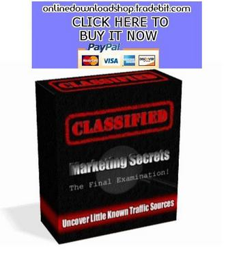 Product picture Classified Marketing Secrets