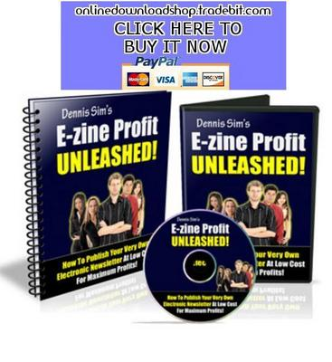 Product picture E-Zine Profit Unleashed