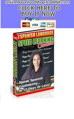 Product picture Spanish Language Speed Learning Course