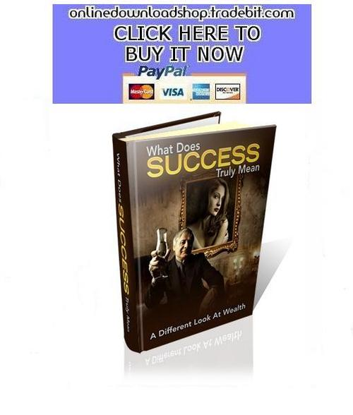 Product picture What Does Success Truly Mean